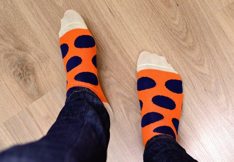socks on feet