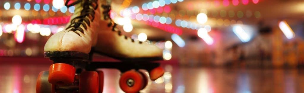 roller skates on the rink