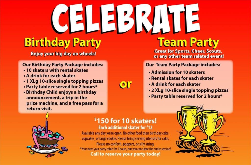 OKC birthday parties and team parties