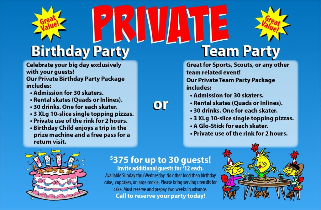 OKC private birthday parties and team parties